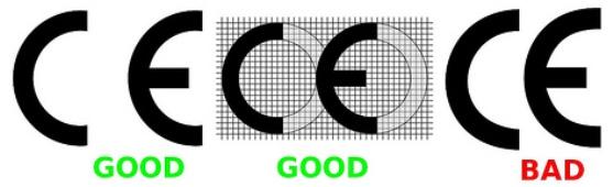 """Тази """"CE"""" маркировка :  се нанася върху продукта или върху етикета на видимо,  лесно  за четене място, по такъв начин, че да не може да бъде заличена. В случай, че размерите на продукта не го позволяват, маркировката трябва да се постави върху опаковката и върху документите, които придружават продукта. се нанася върху продукта, преди да бъде пуснат на пазара трябва да бъде последвана от идентификационния номер на нотифицирания орган, когато този орган е участвал в контрола на производствения процес В случай че се поставя върху  ATEX продукти, маркировката бива  придружавана от конкретната маркировка за защита от експлозии, символи на групата  и категория на оборудванетоИнформацията по-горе би могла да бъде част от други индикации,  опоменаващи за специализирана употреба в рискова среда."""