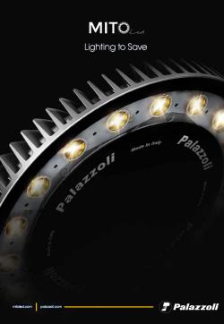 Palazzoli : Каталог MITO LED - безопасно и мощно ЛЕД осветление за всяка необходимост