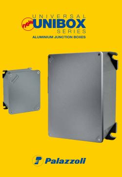 Palazzoli серия UNIBOX. Алуминиеви кутии.