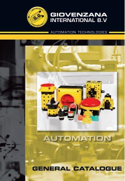 Giovenzana International : Каталог Автоматизация