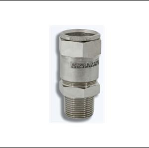 Взривозащитени бариерни щуцери за брониран кабел. Зона 1-2-21-22. Серия FGAB. Различни резби и материал на щуцера.