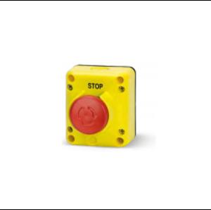 Авариен СТОП бутон завъртане-издърпване. С един контактен елемент. Размер на бутона Ø 40. Серия TLP..