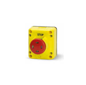 Авариен СТОП Бутон натискане-издъпрване. С видим контактен елемент. Ø 40. Серия TLP..