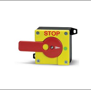 Ключ с дръжка, заключваща се на СТОП позиция. 1NO