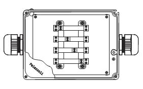"""Пожароустойчива серия """"TUNNEL54"""". Схема на пожароустойчиви кутии от алуминиева сплав. Предназначени за захранване на осветителни тела."""