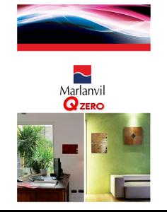 "Marlanvil - Каталог серия ""Qzero"". Дизайнерски табла за вграждане."